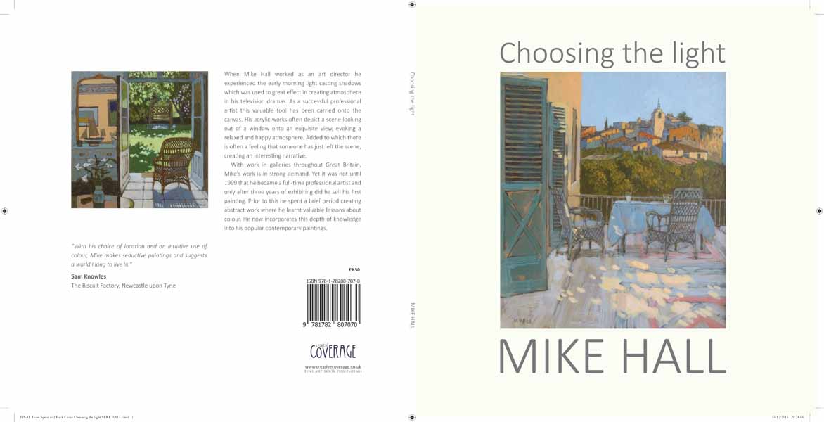 NEW Single page Front spine and back cover Choosing the light MIKE HALL copy lr